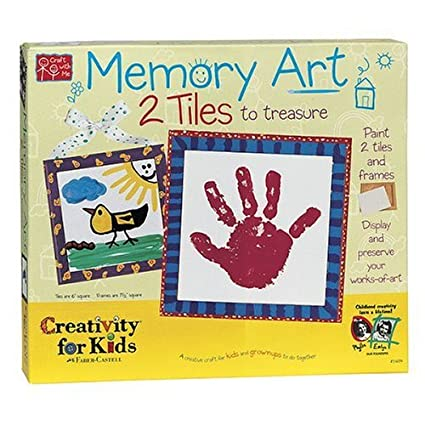Amazoncom Creativity For Kids Memory Art 2 Tiles To Paint And