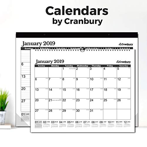 """Large Wall Calendar 2018-2019 Monthly: Hanging Calendar with Planner Stickers for Family and Office, 15 Months 15x12"""" (Black), USE Now - October 2018 to December 2019, by Cranbury by Cranbury (Image #7)'"""