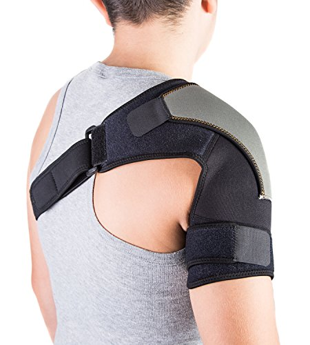 Shoulder Brace for AC Joint & Tendinitis. Shoulder Support for Pain Relief & Injury Prevention. Compression Ice Pack Wrap. Shoulder Support Rotator Cuff Brace for Women & Men by Astorn