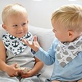 "Stadela Baby Bandana Drool Bibs for Drooling and Teething 4 Pack Gift Set for Boys ""Nautical set"""