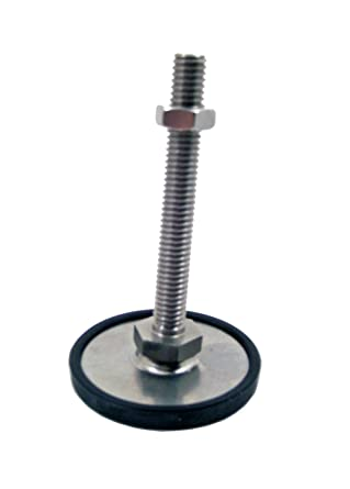 4.92 Thread Length 1.97 Base Diameter Inc. J.W 1//2-13 Thread Size 1.97 Base Diameter Winco 8T125SA6//KR Series GN 440.5 Stainless Steel Leveling Feet with Plastic Base Cap Inch Size