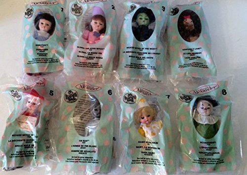 2007 McDONALDS HAPPY MEAL DOLLS COMPLETE SET Wizard of Oz Madame Alexander by McDonald's Happy Meal Doll Set