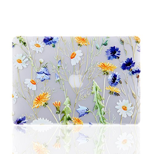 iDonzon MacBook Pro 15 Case 2017 & 2016 Release A1707, 3D Effect Matte See Through Hard Case Cover for Newest Pro 15 inch with Touch Bar and Touch ID - Floral Pattern