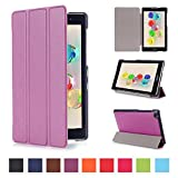 Tsmine Asus Zenpad C 7.0 Case - Lightweight Premium Slim Tri-fold PU Leather Case Stand Cover for Asus ZenPad C 7.0 Z170C / Z170CG / Z170MG Tablet (Auto Sleep / Wake up Features), Purple