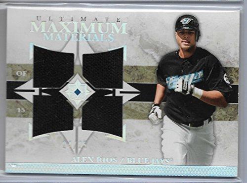 2006 Ultimate Collection Baseball Alex Rios Maximum Materials Quad Jersey Card # 24/25