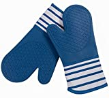 #6: KAF Home Pantry Professional Silicone Oven Mitt (Blue, Set of 2, 13