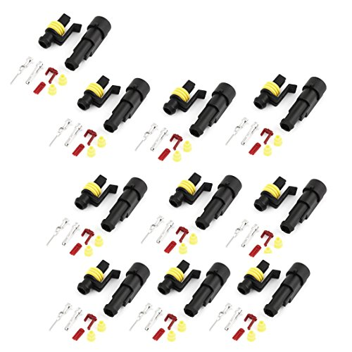 uxcell Wire Connector Socket in Type Sealed Waterproof Electrical Car 10 Set