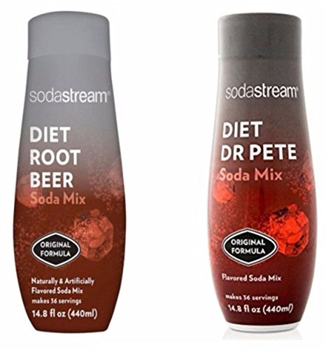 SodaStream 14.8 fl Diet Dr Pete & Diet Root Beer Combo - Twin Pack (Diet Syrups)