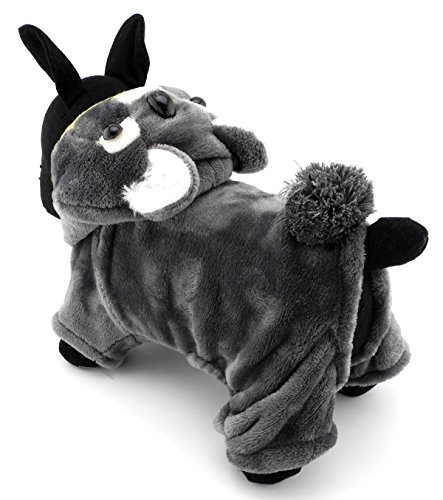 ZUNEA Cute Dog Koala Costume Halloween Pet Pajamas Jumpsuit Velvet Soft Warm Cosplay Theme Party Outfits Apparel,for Small Puppy Dog Cat Grey L
