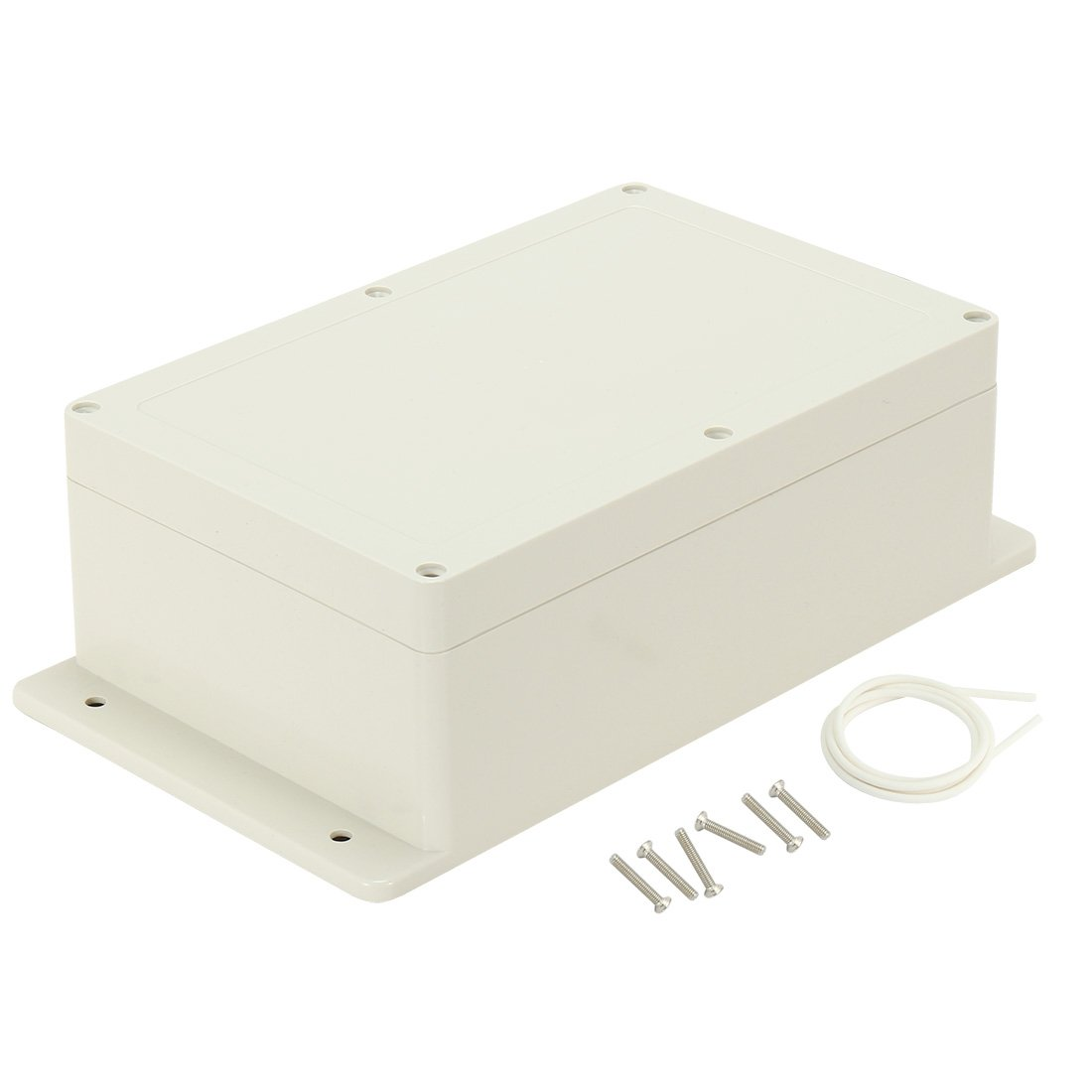 uxcell 9.06''x5.9''x3.43''(230mmx150mmx87mm) ABS Junction Box Universal Electric Project Enclosure w Fixed Ear