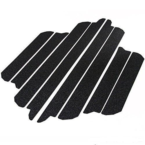 Dodge Sill Protector - T-Foot 8pc Door Sill Step Protector For 2009-2018 Dodge Ram 1500 2500 Threshold Shield Pads