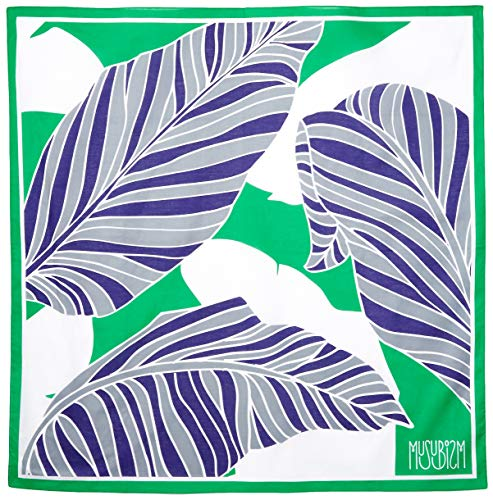 Furoshiki by Musubism, 36' Large, 100% Cotton, Washable Japanese Hand-Paint Method, Gift-Wrapping Cloth, Tapestry, Tablecloth, Eco-Wrapping, Handbag, Unique and Stylish All in One!!(Green)