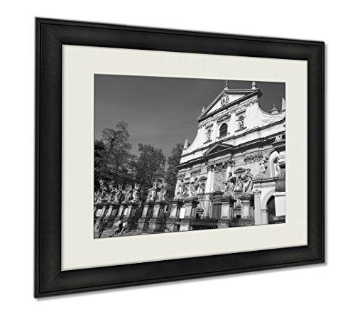 Ashley Framed Prints Krakowpoland, Wall Art Home Decoration, Black/White, 26x30 (frame size), AG5953669 by Ashley Framed Prints