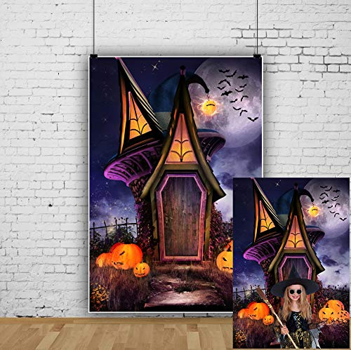 Halloween Trick Or Treat Computer Game (OFILA Halloween Backdrop 5x7ft Kids Halloween Party Photography Background Pumpkin Lights Enchanted Castle Bats Trick or Treat Events Halloween Events Costume Party Video Studio)