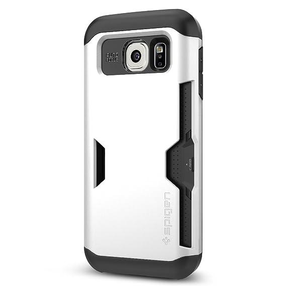 371270d43a2 Spigen Galaxy S6 Funda / S6 Estuche, Slim Armor CS - Protectora Delgada del  portatarjetas para Samsung Galaxy S6 (2015) - Blanco Reluciente:  Amazon.com.mx: ...