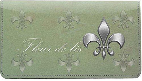 Classic Fleur De Lis Leather Checkbook Cover