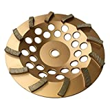 Grinding Wheels for Concrete and Masonry 7'' Diameter 12 Turbo Diamond Segments 7/8''-5/8'' Arbor