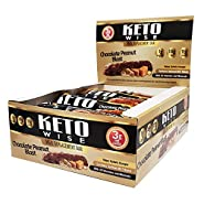 Keto Wise Meal Replacement Bar - Chocolate Peanut Blast - Box of 12