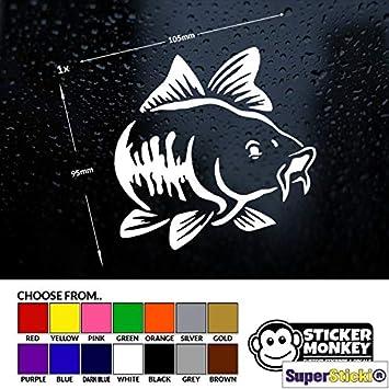 Supersticki Fisch Karpfen 10cm Aufkleber Sticker Decal Aus