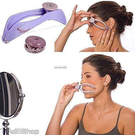 tradeshoptraesio® - depilatorio Depiladora Removedor de Vello Facial Roller a Muelle DIY Slique hilo árabe: Amazon.es: Belleza