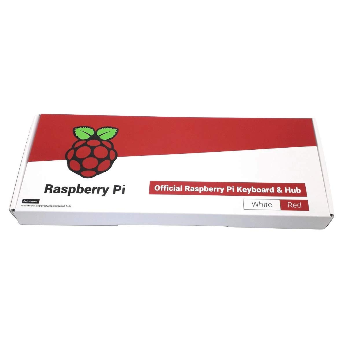 versi/ón espa/ñola Rojo//Blanco Teclado Oficial Raspberry Pi