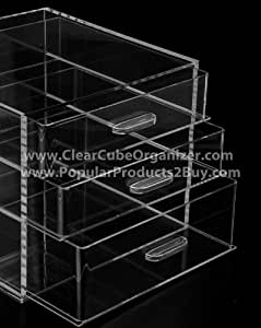 Acrylic Cube Makeup Organizer (3 drawers)