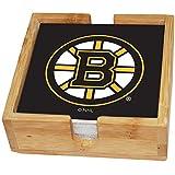 Memory Company NHL Boston Bruins Square Coaster Set, Multi, One Size
