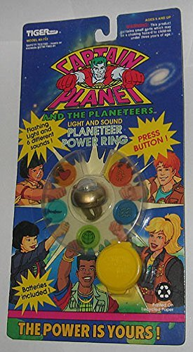 Planeteer Costume (Captain Planet and the Planeteers Light and Sound Planeteer Power Ring (Gold Version))
