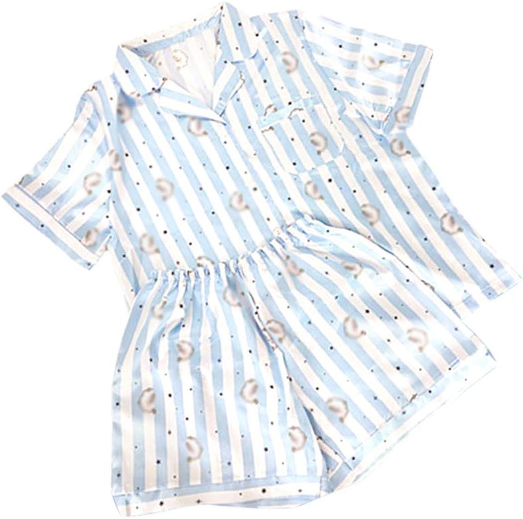 JLTPH KPOP BTS Pijama BTS Bangtan Boys Versi/ón de Dibujos Animados Pijama de Harajuku Camisa de Manga Corto Nighty Hombre Mujer Bedgown Casual Conjunto