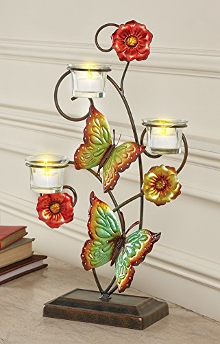 Floral Butterflies Votive Tealight Holder