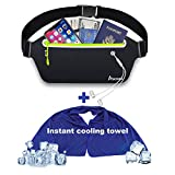 Slim iPhone Running Pouch Belt Fanny Pack,Jogging Belt Running Waist Bag Pack for iPhone XR 8 plus Samsung Note Galaxy,Workout Running Accessories Phone Holder for Running,Runners Belt for Men Women