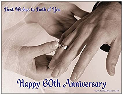 Buy Happy 60th Wedding Anniversary Magnet Hands With Wedding