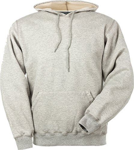 (JustSweatshirts Unisex Pullover 95% Cotton Hooded Sweatshirt - Grey - X-Large)