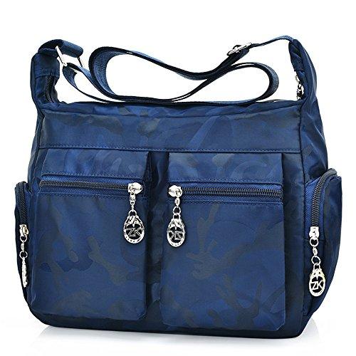 Moonbuy - Bolso bandolera Mujer Navy blue Camo