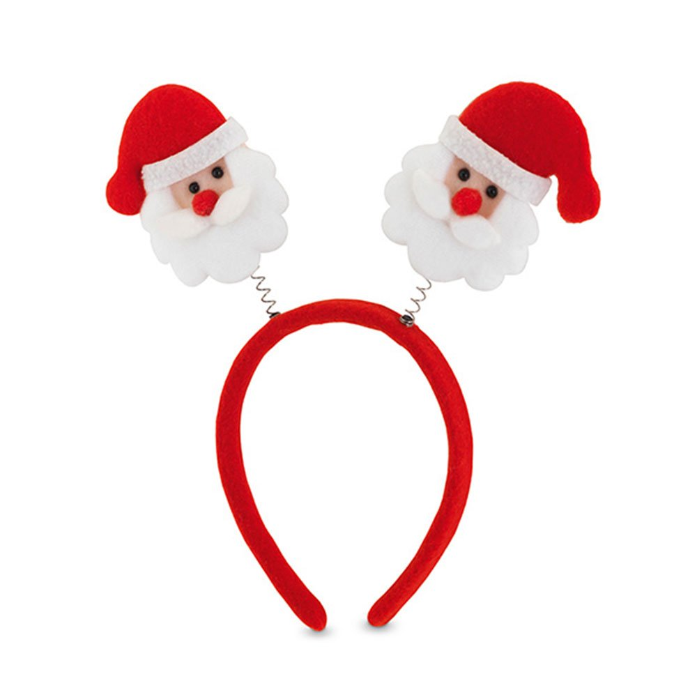 eBuyGB Festive Santa Claus Bopper Headband with Wobbly Santas - Fancy Dress Christmas Party Costume Accessory (Pack of 50) by eBuyGB