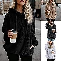 Birdfly Women Fall Winter Sided Fleece Plush Pocket Hoodie Coat Girl Zipper Streetwear Pullover Cheap Clearance Plus Size