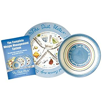 The Diet Plate Female Plate and Bowl  sc 1 st  Amazon.com & Amazon.com: The Diet Plate Female Plate and Bowl: Health u0026 Personal Care