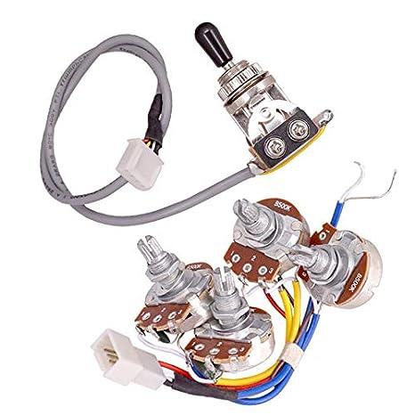 SODIAL Lp - Arnés de cableado eléctrico para guitarra, 2 T2 V, 500 ...