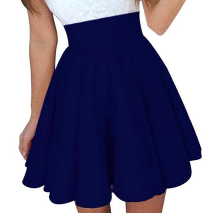 Falda azul oscuro corta de cintura alta - a la modahttps://amzn.to/2MNL31V