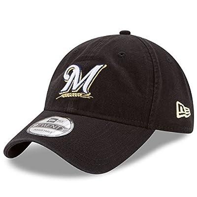 Milwaukee Brewers New Era Core Classic 9TWENTY Adjustable Hat Black
