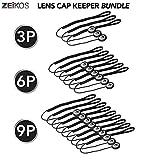 Zeikos 6 Pack Lens Cap Leash Lens Cap Keeper Holder Prevent Lens Cap Lost for DSLR SLR Camera Canon, Nikon, Sony, Panasonic, Fujifilm Camera and More
