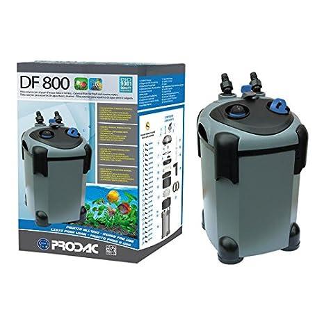 Prodac Filtro Externo DF 800 Acuarios de Agua Dulce y Marina a hasta 350 LT: Amazon.es: Productos para mascotas