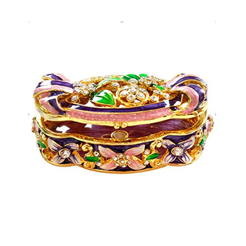 Fancy Shaped Multi colored Beautiful Vintage Orgnizer Jewelry Box Wedding Gift For Women By Orchid Jewelry
