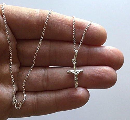 """925 Silver Cross Necklace 18/"""" Long//cadena de CRUZ en plata 18/"""" Largo 20x12mm"""