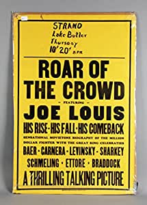"Joe Louis Boxing Documentary ""Roar Of The Crowd"" Movie Poster"