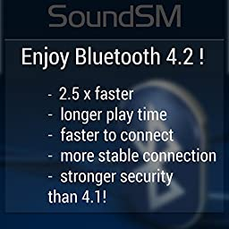 SoundSM - TRUE BLUETOOTH WIRELESS HEADPHONE - Bluetooth 4.2 - Stereo noise canceling with mic for iPhones Androids - Bluetooth earbuds In ear headphones with microphone Bluetooth wireless earphones