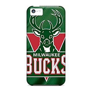 Iphone 5c Case Cover Skin : Premium High Quality Milwaukee Bucks Case