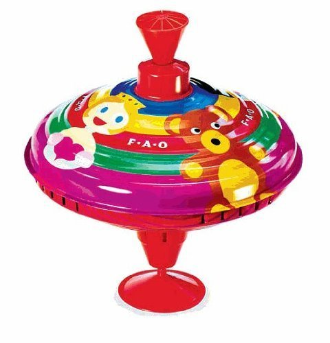 FAO Schwarz Metal Spinning Top Toy
