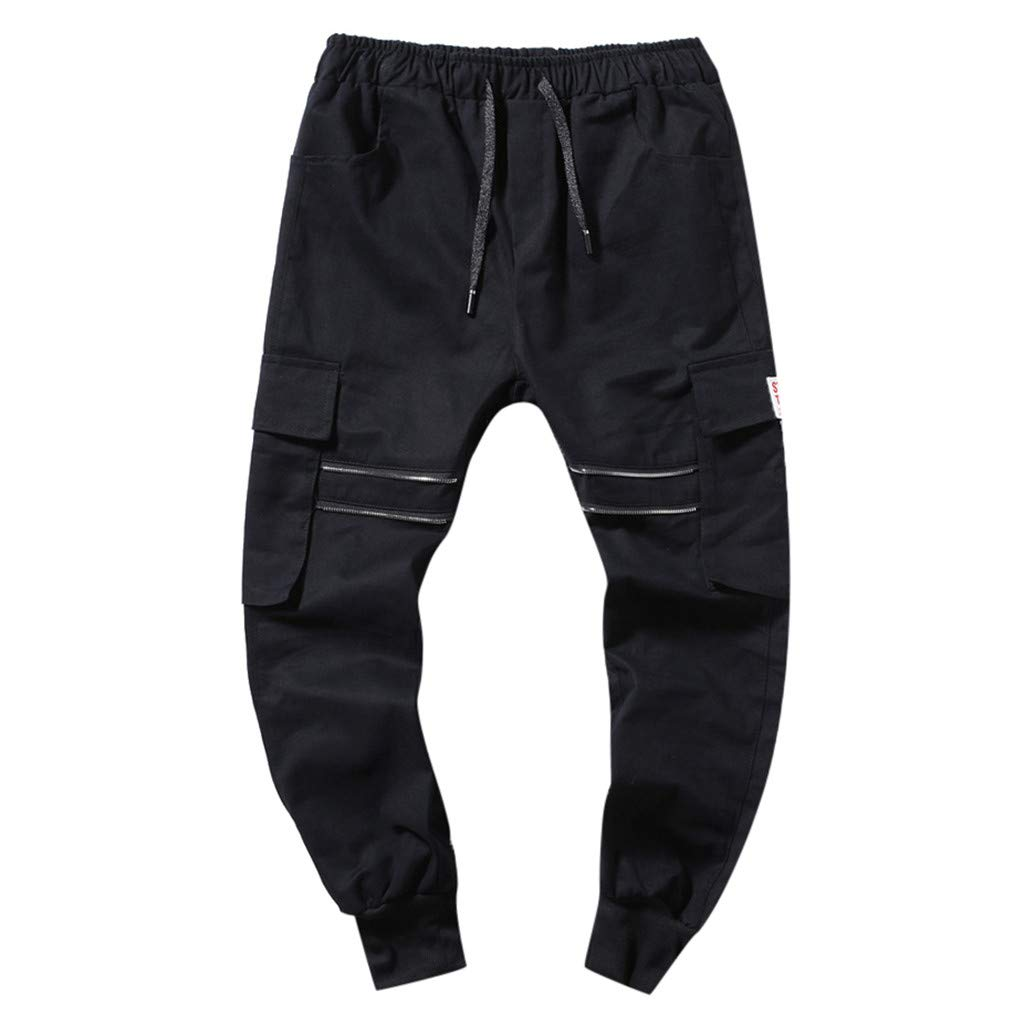 Men's Casual Sweatpants Trousers - Fashion Outdoor Hiking Quick Dry Multi-Pocket Plaid Breathable Drawstring Long Pants