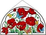 Joan Baker Designs APM322 Poppy Garden Glass Art Panel, 21-1/2 by 13-3/4-Inch